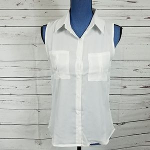 NWT Face White Dressy Tank Top